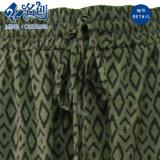 Pantalones flojos verdes de las señoras de la manera del modelo de la Caucho-Pantalón-Correa
