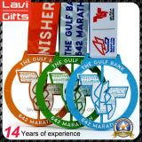 La vendita superiore la medaglia di filatura di sport di maratona di Finsh della pressofusione