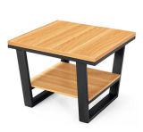 Table basse en bois moderne avec jambe métallique