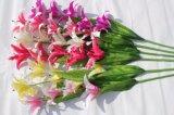 Reale Noten-künstliche Lilie blüht gefälschte Blumen für Hochzeits-Ausgangsdekoration