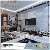 주문을 받아서 만들어진 디자인 백색 대리석 돌담 또는 짜개진 조각 용 대리석 벽 클래딩