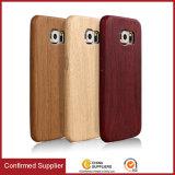 2017년 기우는 제품 가죽 목제 상자, Samsung 주 5를 위한 나무로 되는 전화 덮개