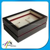 Caixa de madeira de madeira envernizada costume de relógio Pocket da parte alta