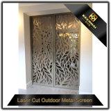 Porte en aluminium décoratif intérieur à coupe laser