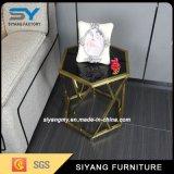 Mobiliário de restaurante de aço inoxidável Marble Top End Table