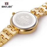 A jóia subsuperficial elegante do aço inoxidável da liga da forma do relógio de Belbi Suckle o relógio de quartzo da série da estrela