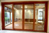 Раздвижная дверь древесины и алюминия Tempered стекла двойника продукта Woodwin популярная