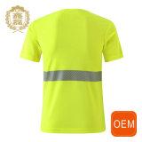 Impressão curta reflexiva unisex feita sob encomenda da camisa da luva T com seu próprio logotipo