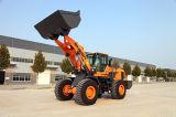 Bandera cargador de la rueda de 6 toneladas con el compartimiento 3.5m3 usado para las condiciones de trabajo pesadas
