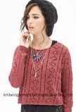 La mode de femmes d'OEM évident à l'extérieur le bref paragraphe des graines le chandail Long-Sleeved que desserré vêtx (W18-505)