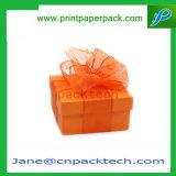 Caisse d'emballage de papier de empaquetage de carton de cadeau fait sur commande de bande