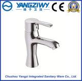 Robinet en laiton de mélangeur de bassin du chrome Yz5906 de taraud de salle de bains de cuvette mono de bassin