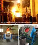 Horno fusorio de frecuencia media de la calefacción de inducción de la fundición del hierro del oro