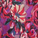 La impresión del poliester puntea la tela Chiffon del telar jacquar para la ropa