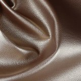 Couro artificial do PVC da grão conservada em estoque barata do Litchi para a tela do sofá (806#)