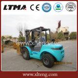 China-Qualität 3 Tonne aller raues Gelände-Gabelstapler für Verkauf