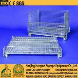 Metal empilhável aço Arame paletes gaiola para Armazenamento Warehouse