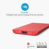 Заряжатель 5000 портативная пишущая машинка Anker Powercore тонкий, ультра тонкая внешняя батарея с технологией батареи iPhone и Быстр-Поручая Poweriq, крен силы, красный