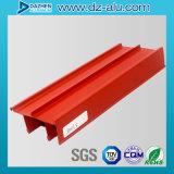 Perfil de aluminio de la protuberancia 6063 para el material de construcción con diverso color