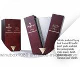 Hochwertiger Luxus MDF-verpackenvierecks-Wein-Geschenk-Kasten
