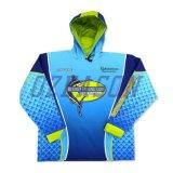 Kundenspezifische Entwurfs-späteste Anti-UVkinder, die Hemden (F012, fischen)