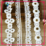 最新のデザイン装飾的なポリエステル刺繍は3D花のレースを設計する