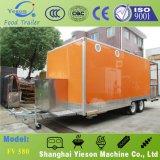 Carrinho móvel do caminhão do alimento das caravana materiais do aço inoxidável para a venda