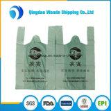 Il marchio su ordinazione abbastanza poco costoso ha stampato il sacchetto di plastica di plastica della maglietta del supermercato dell'elemento portante dei sacchetti del commestibile della maniglia della maglia