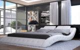 Neuer eleganter Entwurfs-modernes echtes Leder-Bett (HC310) für Schlafzimmer