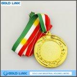 Cadeau fait sur commande en gros de promotion de médaillon de récompense de médaille de blanc d'or