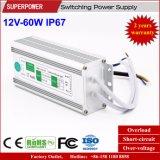 一定した電圧12V 60W LED防水切換えの電源IP67