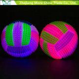Iluminar acima o voleibol que soa de piscamento de salto miúdos das esferas do Hedgehog brinquedo