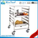 Het commerciële Mobiele Ontwerp van de Kar van de Aanhangwagen van het Voedsel van de Keuken voor 2/1 Pan van GN met de Lijst van het Werk