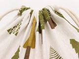 Bolso de lazo del yute del algodón de la impresión de la manera para el embalaje