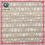 Tissu de lacet de maille de jacquard de coton pour les vêtements de femmes à la mode