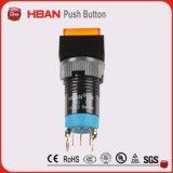 Venda quente! interruptor leve alaranjado redondo do diodo emissor de luz de 12 volts de 12mm
