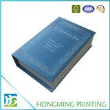 Caixa de presente luxuosa do papel do projeto do livro magnética