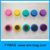 Fünf-Farbe transparenter freier dekorativer magnetischer Pin-Magnet