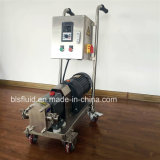 Acero inoxidable Movable Rotary Lobe Pump con Trolley