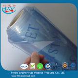 Película UV transparente desobstruída da proteção da cortina de indicador da folha do PVC da ceia