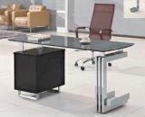Premiers meubles de bureau modernes en acier en verre de bureau de panneau (HX-GL042)