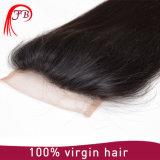 膚触りがよいベース4*4直毛の閉鎖の100%年のバージンの毛