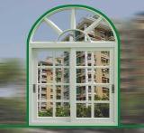 Finestra di scivolamento di vetro ricoprente di colore bianco della polvere termica della rottura con lo schermo