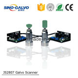 Cabeça de alta velocidade Js2807 do Galvo do equipamento do laser para a marcação do código de barras