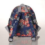 小型の防水PVCレトロの花のキャンバスのバックパック袋(23280)