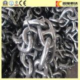 Q235 galvanizado largas cadenas soldado Enlace Fabricante Cadena de ancla