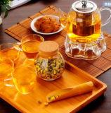 Tarro del almacenaje del alimento del vidrio de Borosilicate para las galletas y los alimentos secos/el tarro de cristal del almacenaje
