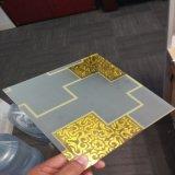 espelho de vidro da arte amarela de 5mm para a decoração