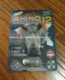 Mannesgeschlechts-Vergrößerer-Pille des Nashorn-12 3D des Titan-6000