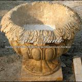 大理石の石造りの花こう岩プランター骨董品カルシウムプランターMP-108